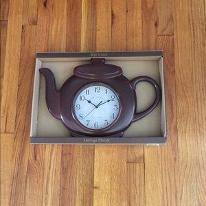 Tea Kettle Wall Clock